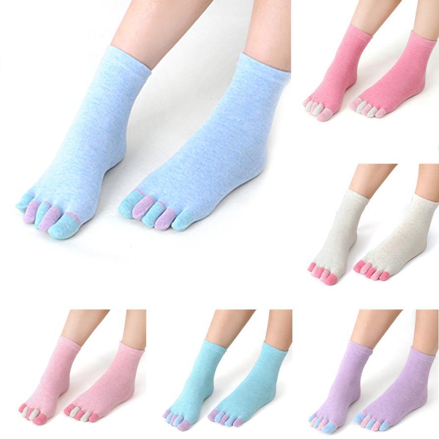 Black Friday VOT7 vestitiy girls fashion Cotton Non Slip Massage Toe Socks Full Grip Socks Heel,Aug 17