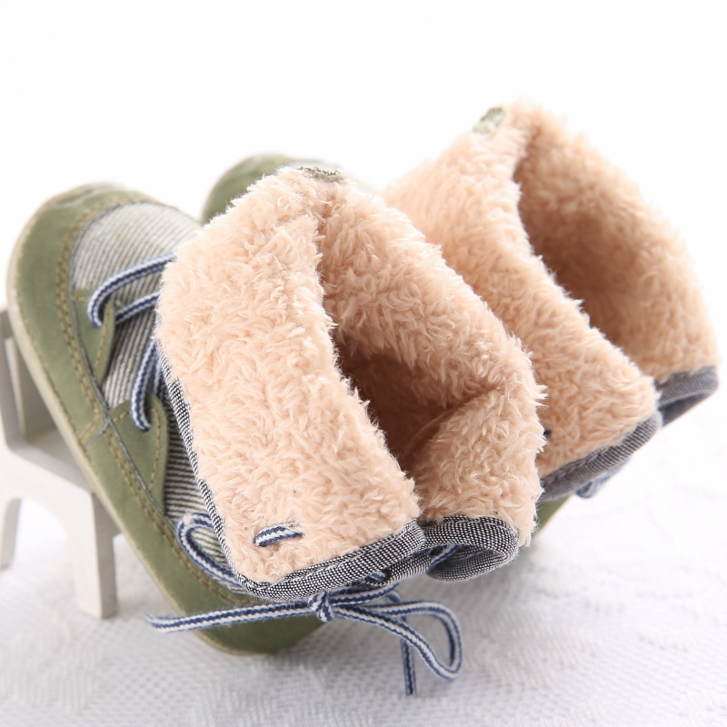 Winter 2019 Baby Boys Girls Keep Warm Shoes First Walkers Sneakers Kids Crib Infant Toddler Footwear Solid Boots Prewalkers in First Walkers from Mother Kids