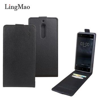 Luksusowe etui z klapką skórzane etui na telefon Nokia 1 3 5 6 Nokia Lumia 1320 625 630 650 725 830 928 950 Business cover