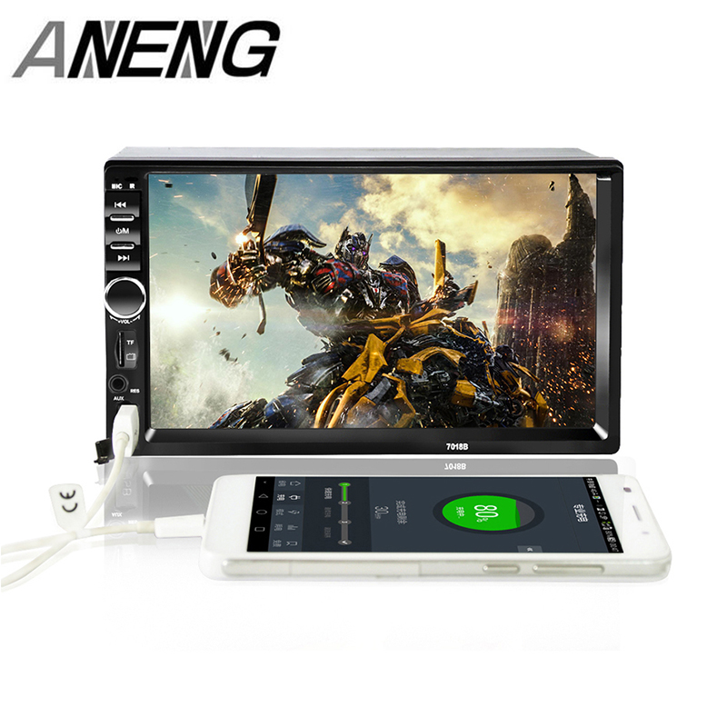 7018B Double 2 Din Car Video Player 7 inch Touch Screen Multimedia player MP5 Player USB FM Bluetooth Support Rear View Camera7018B Double 2 Din Car Video Player 7 inch Touch Screen Multimedia player MP5 Player USB FM Bluetooth Support Rear View Camera