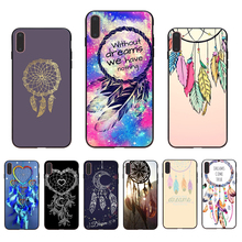 IMIDO Dream catcher fashion design Soft silicone Half-wrapped phone case For iPhone 7 6 8 5 X XR XS Xsmax 7/8/6/6splus 6s shell hard shell case cover for iphone 6s 6 dream catcher