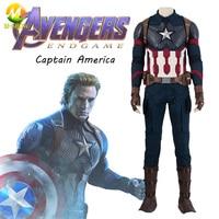 Avengers Endgame Captain America Cosplay Costume Steve Rogers Cosplay Full Set Christmas Carnival Halloween Party