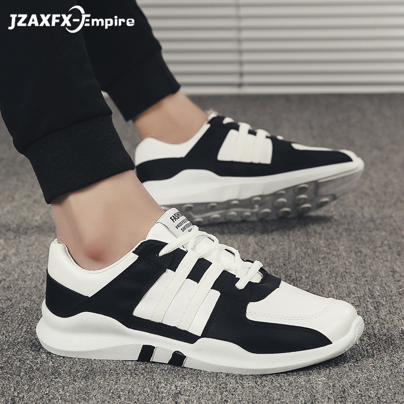 Men Lightweight Sneakers Superstar Patchwork Shoes Comfortable Lace-up Outdoor Man Causal Breathable Shoes tenis feminino image