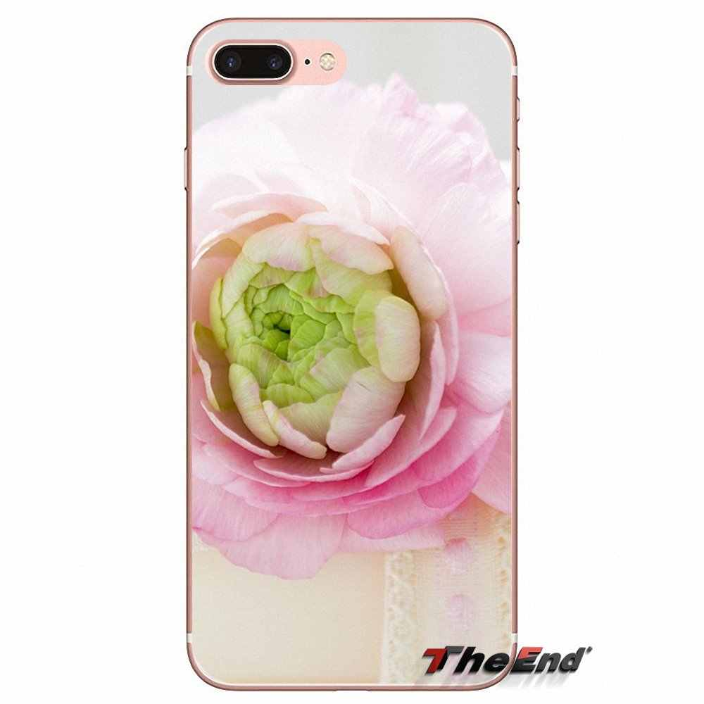 โทรศัพท์มือถือเปลือกหวานดอกโบตั๋นดอกไม้สำหรับS Amsung G Alaxy S2 S3 S4 S5มินิS6 S7ขอบS8 S9พลัสหมายเหตุ2 3 4 5 8 C Oque f undas