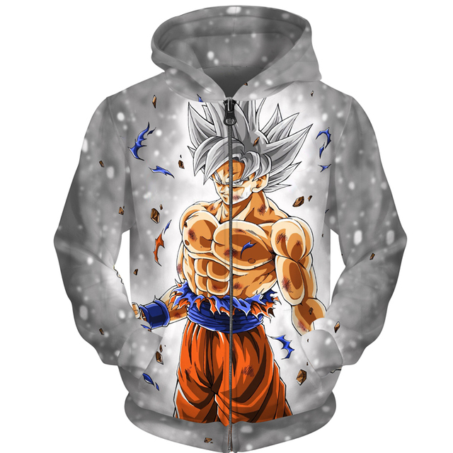 GOKU SUPERSAIYAN 3D ZIP UP HOODIES