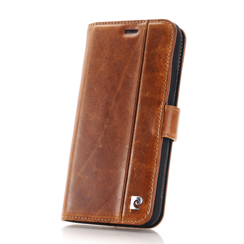 Pierre Cardin housse en cuir véritable pour étui iPhone X, étui magnétique à rabat pour livre support portefeuille porte-carte pour iPhone X Coque - 6