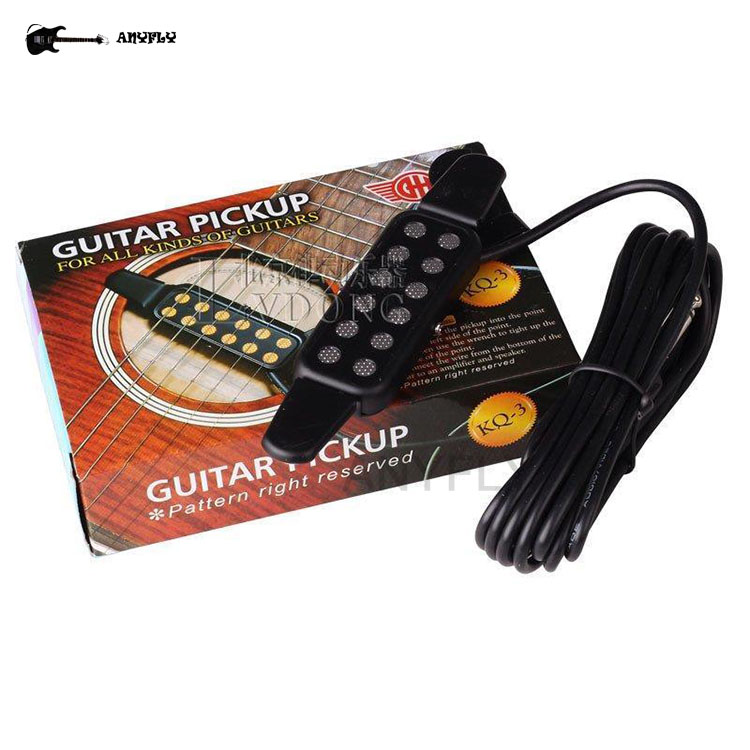 Guitar Pickup,hotsale Cheap Easy To Fix Clip On Guitar Pickup KQ-3 For Acoustic Guiatr Classical Guitar Free Shipping