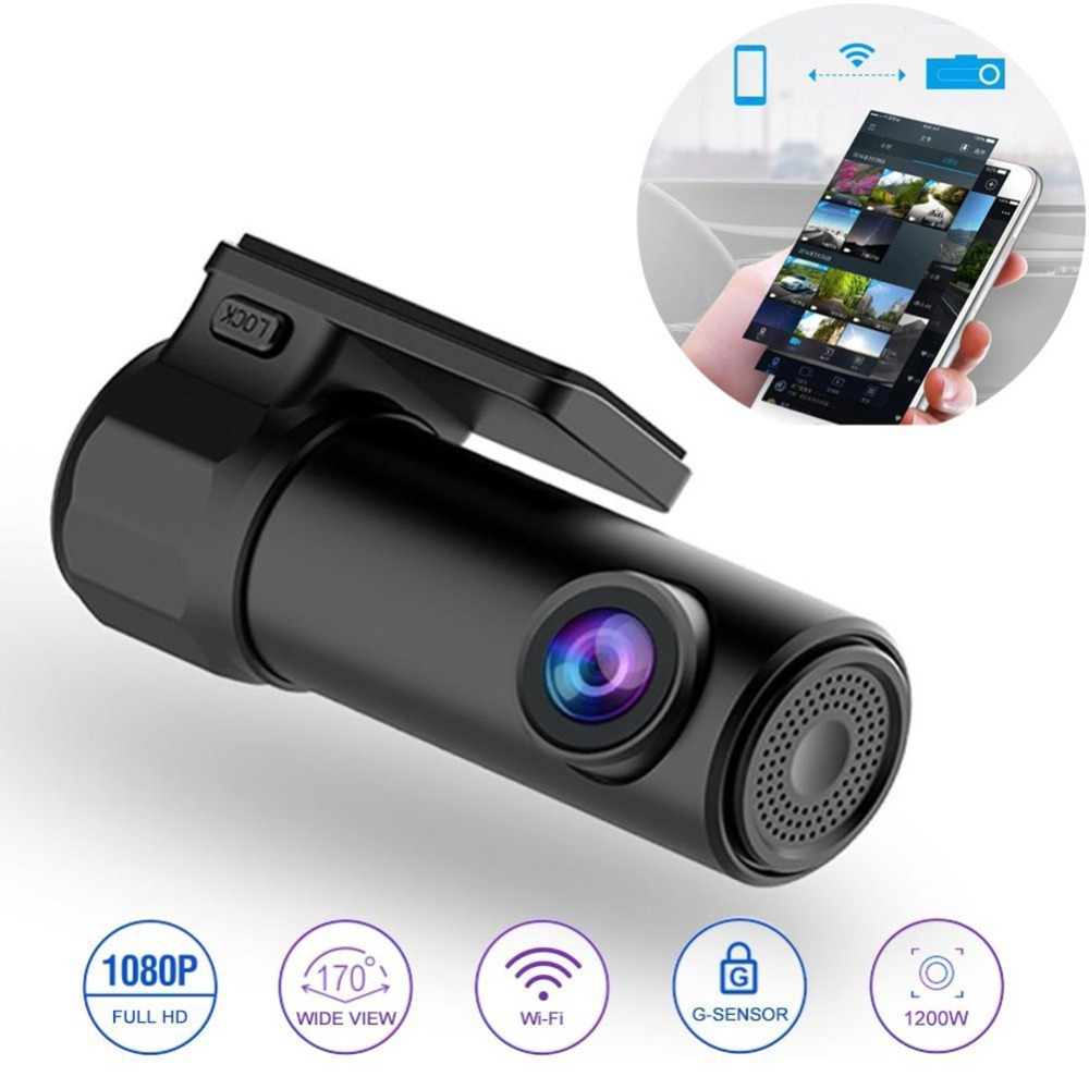 Dash Cam Mini WIFI coche DVR cámara Digital Secretario grabadora de Video DashCam de videocámara DVR inalámbrico APP Monitor