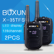 2 PCS BUXUN X-35TFSI Talkie Walkie 8 W De Poche Pofung UHF 8 W 400-470 MHz 128CH TWO WAY Portable CB Radio