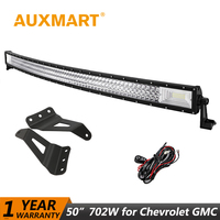 Auxmart 50 702W Curved LED Light Bar For Chevrolet Silverado 2007 2014 Offroad LED Work Light