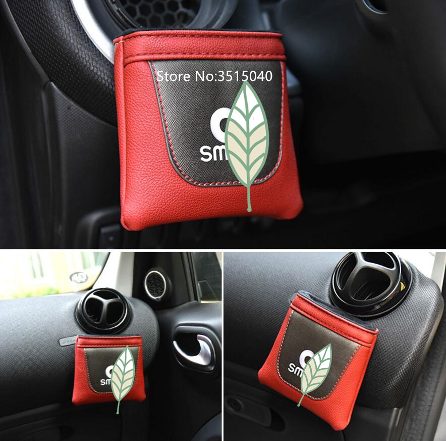 For Mercedes Benz Smart Car Storage Bag Outlet Vent Tidy Box Organizer Accessories Gles Phone Container Leather In Stowing Tidying From