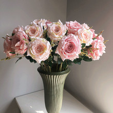 Klonca High-grade Luxury Silk Flower 75cm 10pcs/lot Artificial Flower Rose Fake Flower Home Hotel Wedding Flower