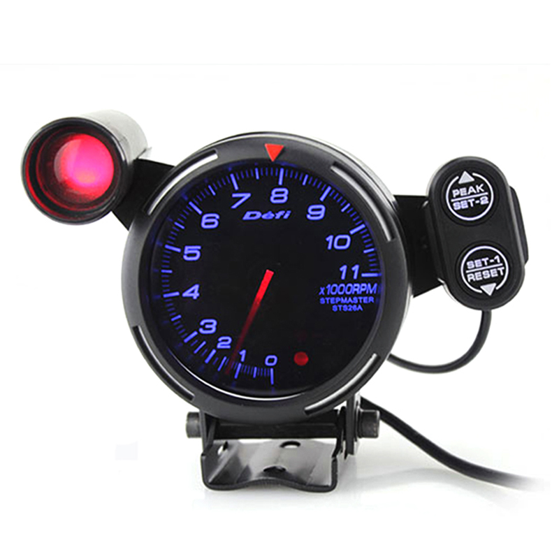 3 75 Inch 80mm Car DF  0-11000 RPM Stepper Motor Tachometer RPM Gauge with Shift Light for Auto Car RPM Gauge Meter