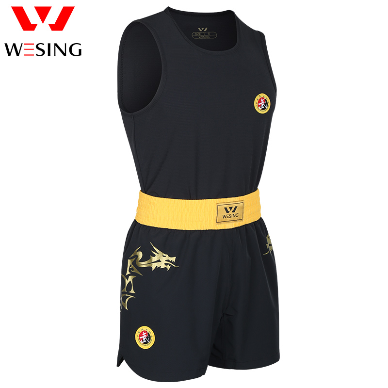 Wesing Dragon Kids Adults MMA Boxing Uniforms Muay Thai Shorts+Tops Martial Arts Outfits Set Boxer Fightwear Competition