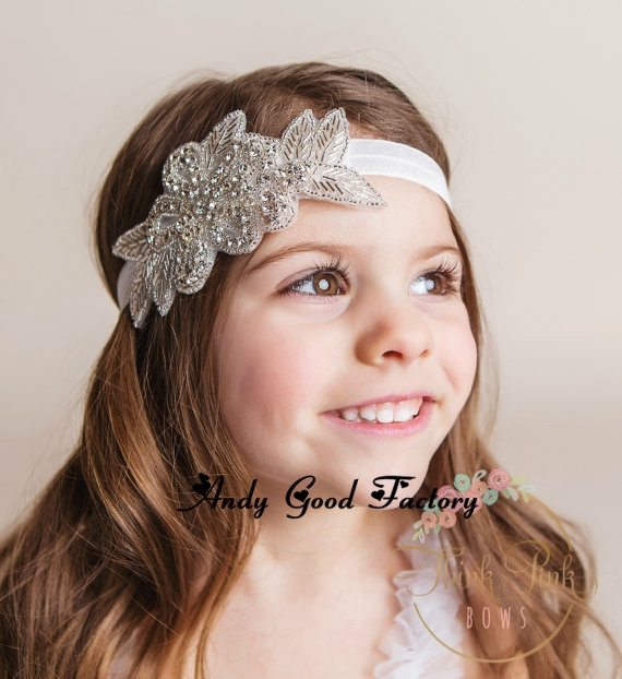 120pcs lot Wholesale Baby Girls Bling Crystal Rhinestone Headbands Newborn  Christening Headband Baby Headbands Baptism headband 86cfe2d929f