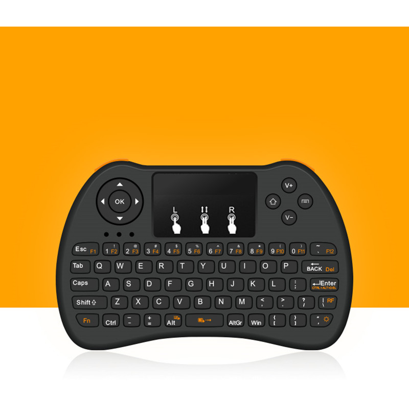 Color: EN i8 with Backlit Calvas H9 Mini Wireless Keyboard Backlit 2.4GHz Air Mouse with Backlight Remote Control Touchpad for Android TV Box Google Smart TV