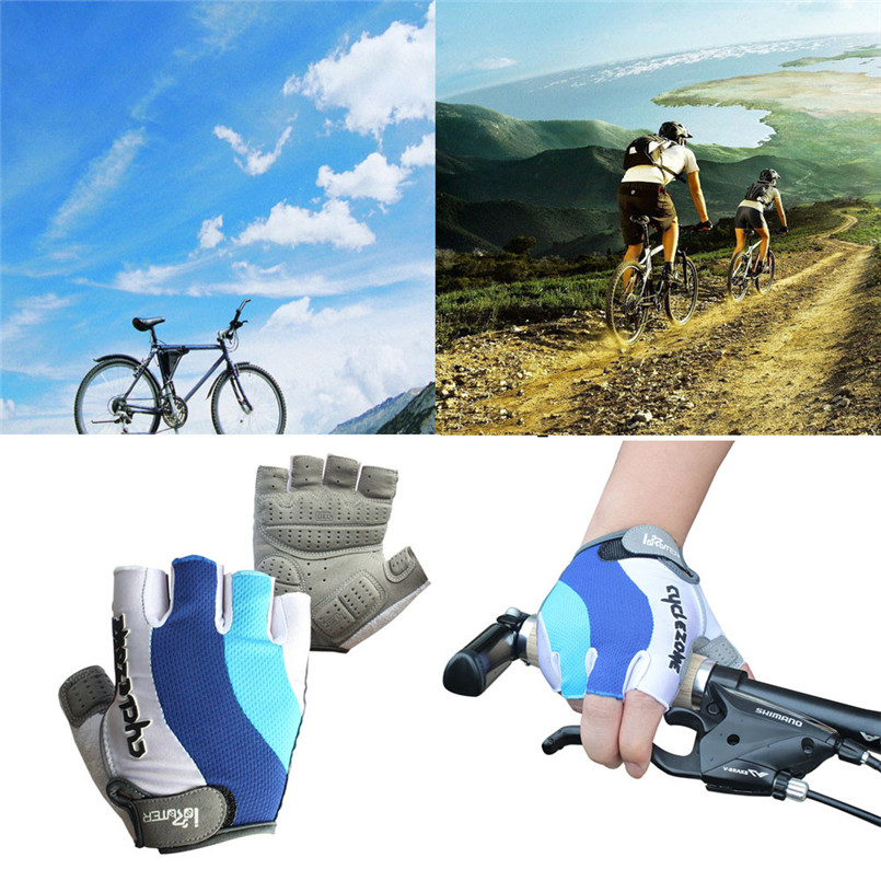 цена на New Outdoor Cycling Bike Bicycle GEL Shockproof Sports Half Finger Glove M-XXL 2017 cycling gloves sports camping