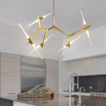 Living Room Chandelier With G9 Bulbs LED Dining Room Pendant Lamp Indoor Decoration Light Ceiling Lamp Hanging Lamp fixture