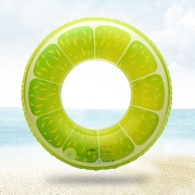 HOT Swimming Pool Inflatable Green Orange Swim Ring Adult Fruit Swim Ring