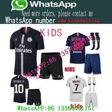 f7a2258c0a99 2018 2019 Paris 7 MBAPPE kids kit soccer Jerseys 18 19 psg VERRATTI CAVANI  DI MARIA PSG SOCK DE FOOT survetement football SHIRT