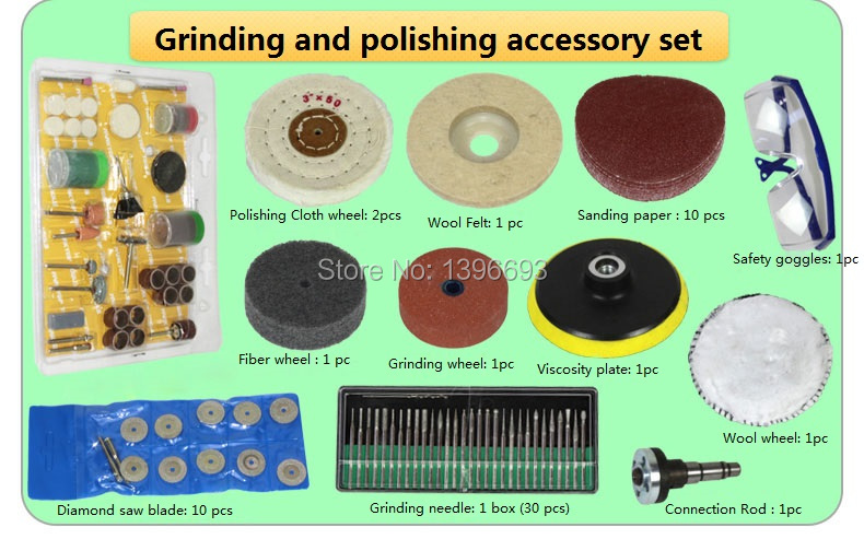Additional accessory set for jade polishing tool,Jade Table grinding machine,Desktop mini grinder,Mini polishing machine.