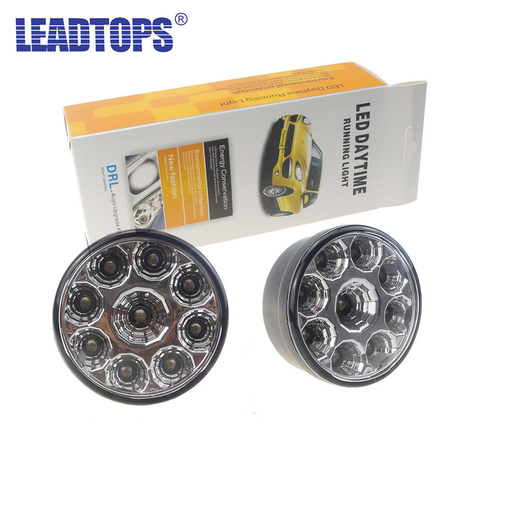 2PCS Car Styling H11/H4/H7/881/9005/9006 LED Car Auto DRL Chip Fog Running Headlight Head Lights Lamp Bulb DC12V White BJ