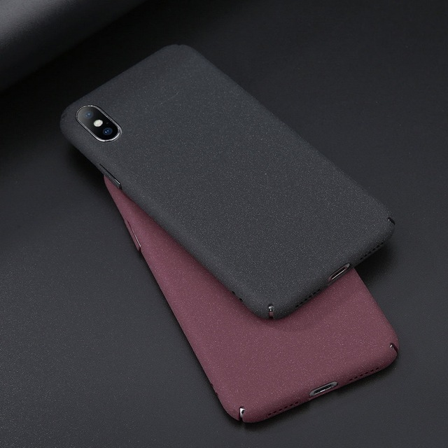 detailed look 420df 3ea86 US $1.88 33% OFF|Fashion Sandstone Anti skid Matte Phone Case For iPhone X  10 8 Plus 6 6S 7 Plus Hard PC Plastic Full Cover Protective Capa Shell-in  ...