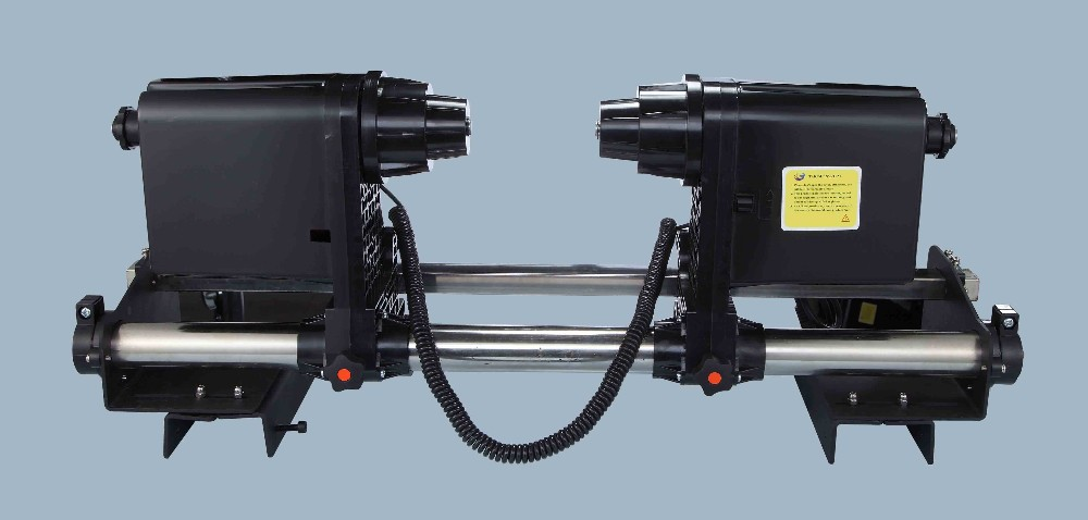 Double power motor paper take up system for mutoh /roland/mimaki printer 64 automatic media take up reel system for mutoh mimaki roland etc printer