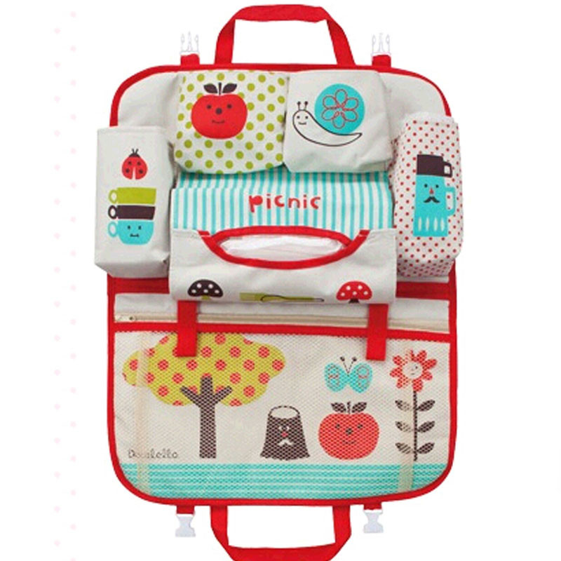Outdoor Baby Diaper Bag Car Accessories Baby Diaper Bag Mother Rear Hanging Bags Baby Carriage Pram Car Seat Organizer bolsas