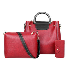 3Pcs New 2019 Elegant Shoulder Bag Women Retro Handbags  Large Capacity Messenger Leisure Crossbody 6.10