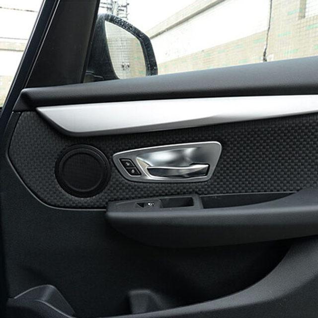 Inside Door Handle Bow Cup Wrist Sticker Cover Trim Frame For Bmw 218i 228i  Tourer F30 320I 325i 316i 4 Series 428i Accessories