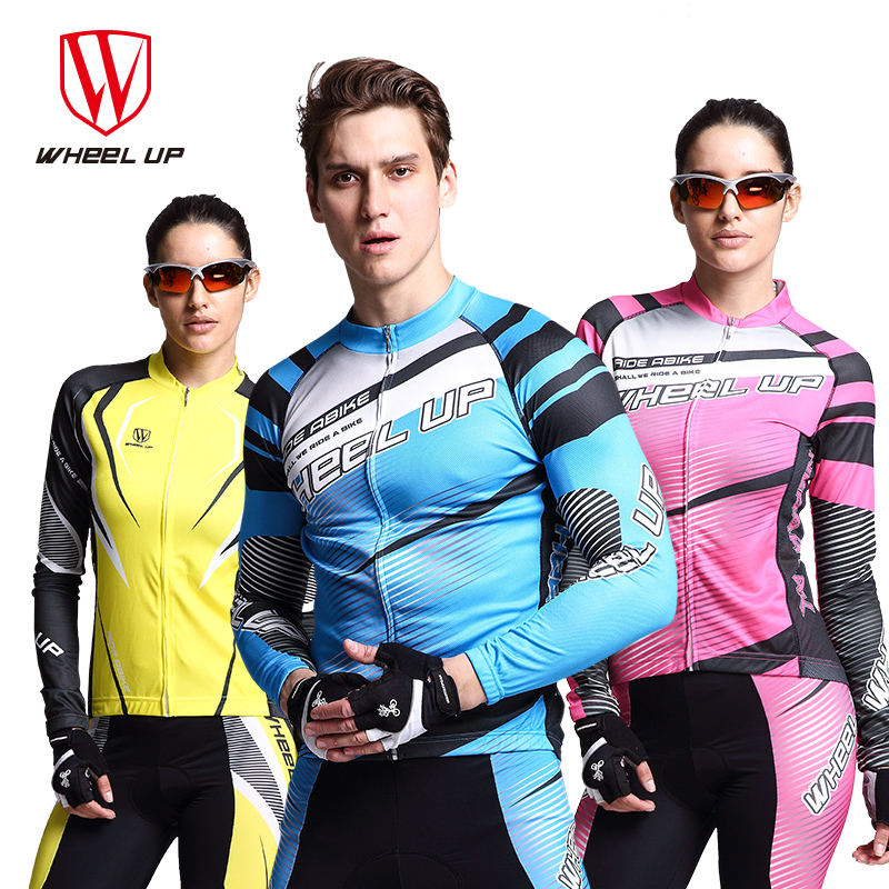 WHEEL UP Long Sleeve Cycling Jersey Suit Male Female Autumn Spring Outdoor Sports Bike Coat Riding MTB Mountain BIke Equipments ckahsbi 2017 new long sleeve cycling sets suit male autumn winter jersey outdoor bike coat quick dry mtb riding pants mountain