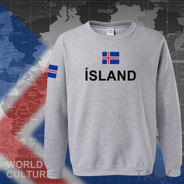 Iceland hoodie men sweatshirt sweat new hip hop streetwear island nation clothing 2017 sporting country ISL Icelander Icelandic 5
