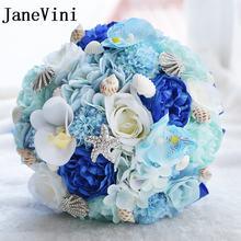 Janevini пляжные свадебные цветы Свадебные букеты с бисером