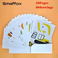 Plantilla de dibujo de bolígrafo 3D SMAFFOX, 20 páginas, las 40 plantillas, ayuda a los niños familiarizados con el bolígrafo de impresión 3D