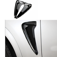 2x Black Chrome ABS Side Wing Air Flow Fender Intake Vent Cover For BMW X5 F15