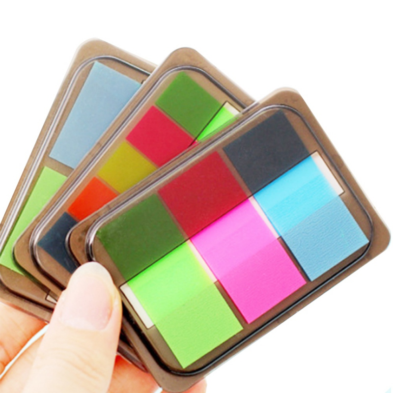 Hot Sale Fluorescence colour Self Adhesive Memo Pad Sticky Notes Bookmark Point It Marker Memo Sticker Paper Office Supplies