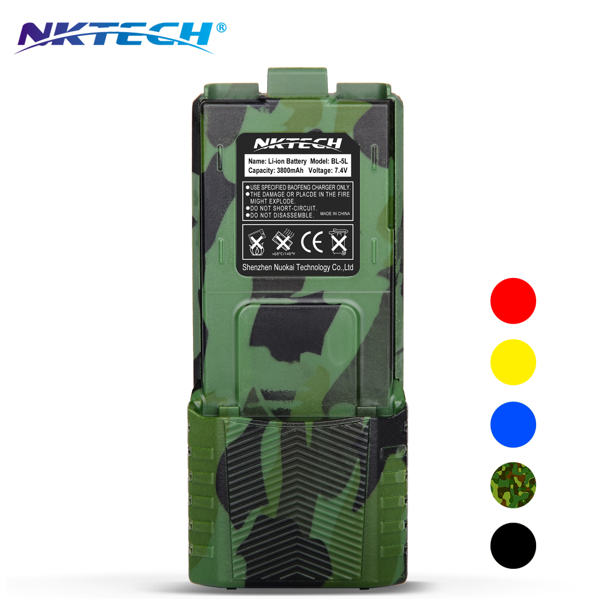 NKTECH Talkie Walkie Étendu BL-5L 3800 mAh 7.4 V Li-ion Batterie Pour BaoFeng UV-5R PLUS DM-5R BF-F8HP UV-5RTP UV-5RE TYT TH-F8