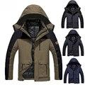 Más el tamaño 5XL, 6XL chaqueta casual hombres mujeres 2 en 1 Caliente del algodón del invierno de down Parkas Ocasional Impermeable A Prueba de Viento Hombres de la capa 9 colores