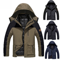 Plus size 5XL,6XL casual jacket men women 2 in 1 Warm winter cotton down Parkas Casual Waterproof Windproof Men coat 9 colors