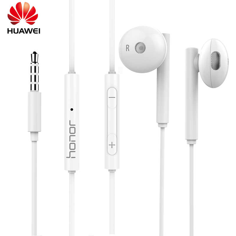 الأصلي هواوي سماعة AM115 نصف في الأذن سماعة رأس مزودة بميكروفون/التحكم في مستوى الصوت ل P9 P10 P20 P30 لايت الهواتف الشرف 8 9 10
