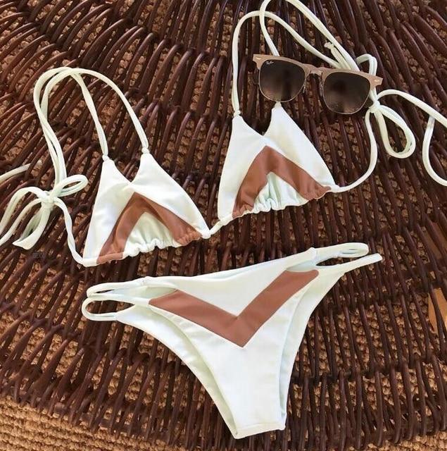 Hot Bandage Bikini 2017 Sexy Beach Swimwear Women Swimsuit print BathingSuit Brazilian Bikini Set new Biquini maillot de bain
