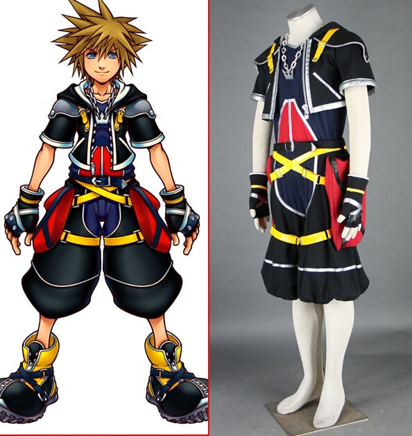 Costume - Kingdom Hearts Cosplay Sora Cosplay Black Mens Kingdom Hearts Cosplay Costume