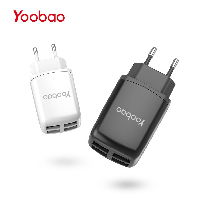 Yoobao YB703 Wall Charger 4 Ports Universal USB Mobile Phone Charger 5V2.1A Travel Charger Adapter EU for Google iPhone iPad LG  Зарядное устройство