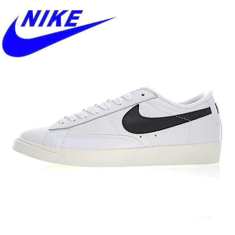 sale retailer 79e3c 9a965 Original NIKE WMNS BLAZER LOW PRM Men and Women Skateboarding Shoes , Black  Red, Balanced