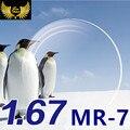 1.67 Super Resistente Calidad MR-7 Lentes de Prescripción de Lentes Asféricas Miopía Resina CR39 Lente Cerca de La Vista Lentes de cristales