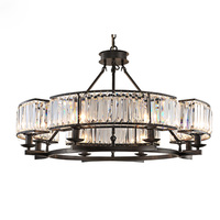 American Country Led Chandelier Lights Retro Crystal Pendant Lamp Europe Iron Lustres For Living Bed Room Lighting Fixture