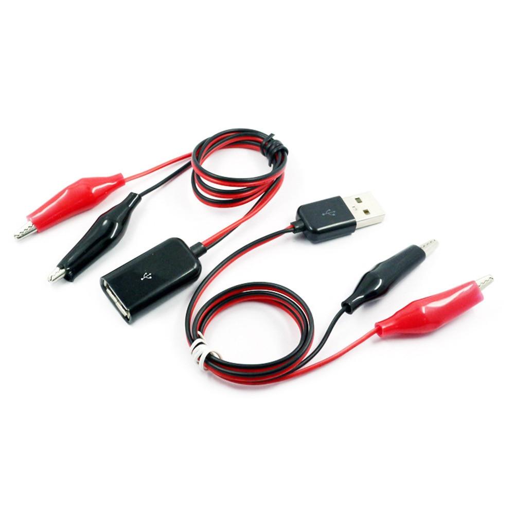 USB 2.0 Male Female Alligator Clips Crocodile Wire USB Tester Detector Cable