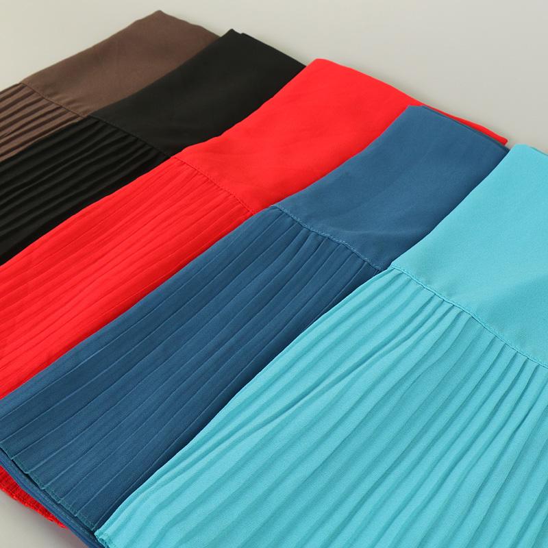 Foulards Hijab d'été drapé mousseline de soie