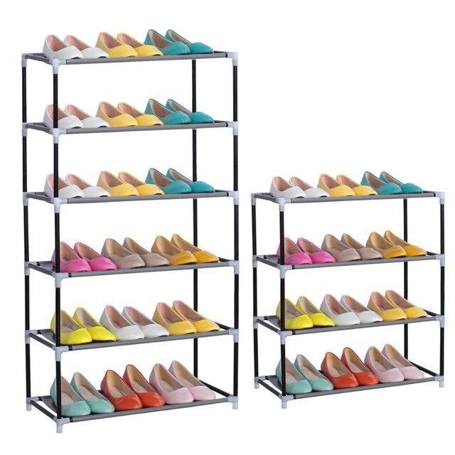Aliexpress Com Comprar 2 3 4 6 Capas 2 Colores Muebles De Almacenamiento De Habitacion Estantes De Zapatos Portatiles Plegables Multicapa No